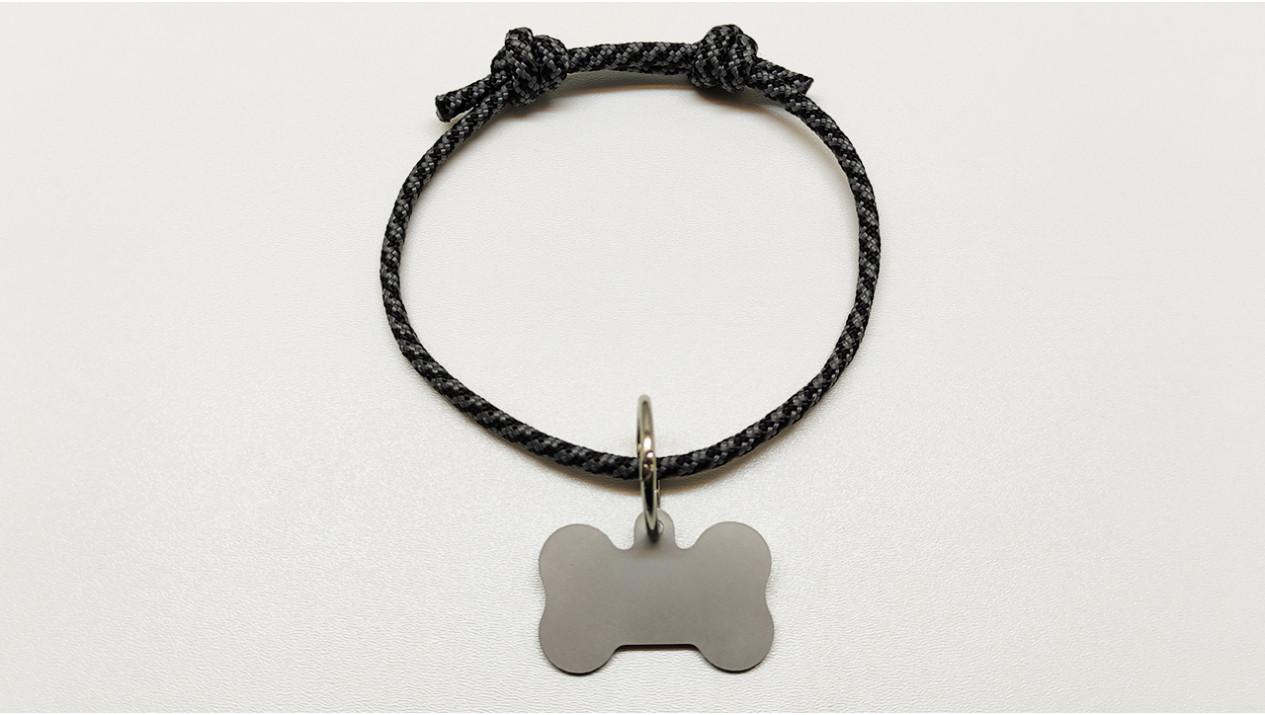 Нашийник - шнур паракордовий чорний для адресника з двома вузлами (5мм)