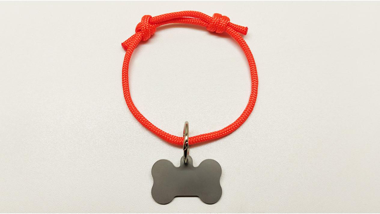 Нашийник - шнур паракордовий помаранчевий для адресника з двома вузлами (5мм)