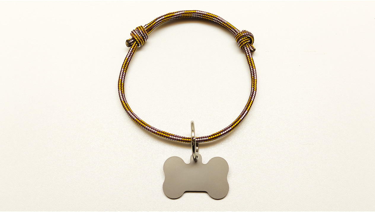 Нашийник - шнур паракордовий коричневий для адресника з двома вузлами (5мм)